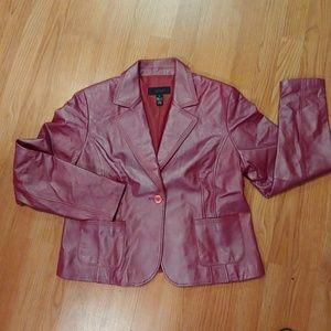 Alfani Leather Blazer